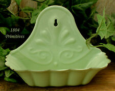 Country Green Reproduction Enamelware SOAP Dish