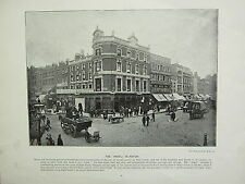 1896 VICTORIAN LONDON PRINT + TEXT ~ THE ANGEL ISLINGTON