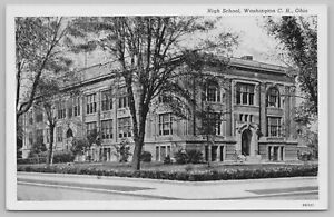 Washington County High School Ohio~Standard Chrome Postcard