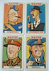 VINTAGE PLAYING CARDS PEPYS CARD GAME VICTORY WITH RULES & BOX 1939 WW2 WW11