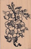 "bouquet stampland Wood Mounted Rubber Stamp 2 x 3""  Free Shipping"
