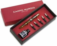 Set regalo Calligraphy ambra Penna Stilografica Campo Marzio Roma 1933 UOMO D...