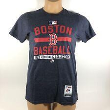 Majestic Triple Peak MLB Boston Red Sox T-Shirt Blue Women's Small S