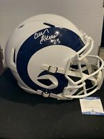 Cam Akers Autographed Los Angeles Rams Flat White Full-Size Football Helmet BAS