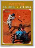 J.D. Davis 2020 Topps Heritage 5x7 Gold #445 /10 Mets