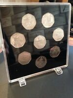ACRYLIC COIN DISPLAY CASE FOR PETER RABBIT 50p 2018,2017 SETS.Coins not included