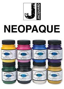 Jacquard Neopaque Fabric Paint 2.25oz - 10 Colours - Water Resistant NON CRACK