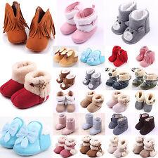 Baby Girls Winter Antiskid Soft Sole Boots Toddler Boy Crib Prewalker Pram Shoes