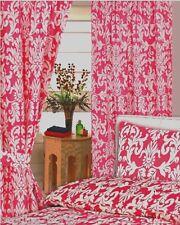 """66""""x72"""" Tende Damasco Rosa Bianco a Fiori Foglie fucsia rosso ciliegia con ferma tende"""