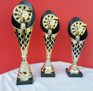 3er Serie Pokale Dart Darts Pokal inkl.Gravur ROCKET GOLD 2020 NEU!!!