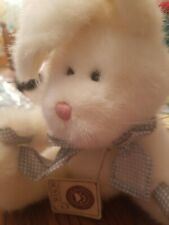 boyds bears bunny Petey Thumpster greenish blue bow & paws