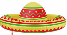 ** INFLATABLE SOMBRERO HAT 53CM PARTY FANCY DRESS PROP NEW ** MEXICAN