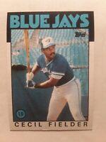 1986 Topps CECIL FIELDER Rookie #386 Toronto Blue Jays