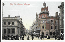 High Street, Newport PPC, by Hartmann, Unposted, Animated Street Scene W Banks