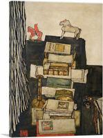 ARTCANVAS Schiele's Desk 1914 Canvas Art Print by Egon Schiele