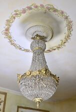 LIGHTING CRYSTAL BRASS CHANDELIER 65 cm