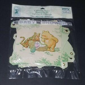NEW Classic Pooh Baby Shower Celebration Banner Hallmark Disney Winnie the Pooh