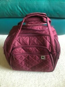 Ebags Delsey Quilted Carryon Overnighter Purple/Violet - Tan lining