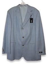 """HUGO BOSS """"MARS"""" Gray Blue Wool Men's Sports Jacket Blazer Size 44 US/54 EUR"""