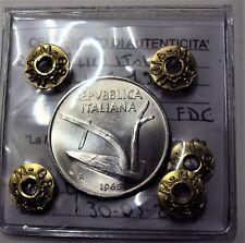 10 LIRE REPUBBLICA ITALIANA SPIGA 1965 FDC SIGILLATA