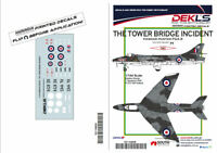 """Decals Hawker Hunter """"The Tower Bridge Incident"""" 1/144 Scale"""