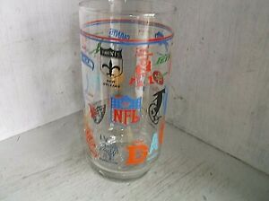 Vintage NFL Team Logos Drinking Glass Tumbler 24 oz Houston Oilers