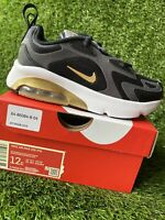 BOYS: Nike Air Max 200 Shoes, Black/Gold - Size 12C AT5628-003