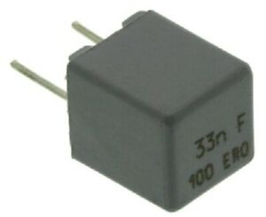 Vishay MKP1837 POLYPROPYLENE FILM CAPACITORS 10Pcs 63VAC/100VDC-33nF Or 47nF