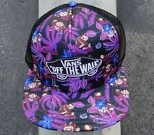 Vans Skateboard Co. Nintendo Mario Purple Patch Logo Womens Snapback Hat