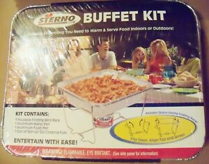 Sterno Buffet Kit wire rack water pan food pan cooking fuel warm and serve food