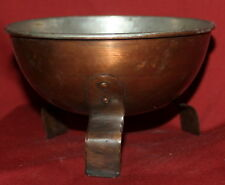 Vintage hand crafted footed copper bowl