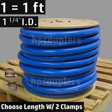 """1-1/4"""" ID FlexFab Silicone Heater Hose With 2 Clamps 32mm 350F Radiator Coolant"""