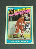 Steve Yzerman Rookie Leaders Detroit Red Wings 1983-84 O-Pee-Chee #385 NMMT