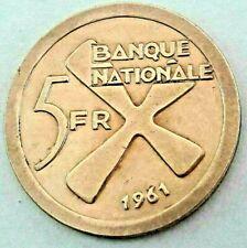 5 Francs 1961 Katanga Bananas KM#1 Cross of Katanga KM#2