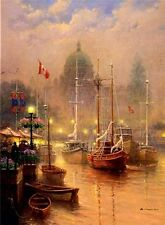 "HARBOR FOG AP SERIGRAPH 32"" x 26"" Edition of 95  by G. Harvey"