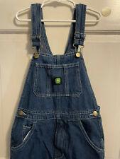 John Deere Denim Bib Overalls Jeans Boys Size 12 Reg