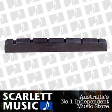Plastic Black Electric Guitar Nut Fender Strat Stratocaster Guitar 43x3.5x4.95mm