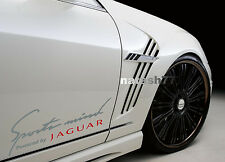 Sports mind Powered by JAGUAR X S Tipe Racing Decal sticker SILVER/RED Pair
