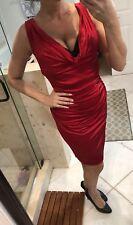 BCBG MAX AZRIA Red Black Bustier Bodycon Marilyn Monroe Mini Dress S