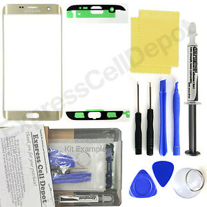 for Samsung Galaxy S7 Edge G935 -Gold- Front Glass Lens Screen Replacement Kit