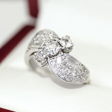 Platinum Art Deco ring with Diamond in freeform design with Old European Cut Dia