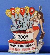 TARA BLVD. ATLANTA, GA HOOTERS GIRL HAPPY BIRTHDAY PARTY CAKE 2005 LAPEL PIN