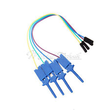 For Logic Analyzer Electronic Components 4PCS Test Clamp Wire Hook Test Clip