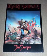 IRON MAIDEN - The Trooper - vintage postcard (England 1983) Derek Riggs