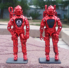 NEW G.I.JOE CUSTOM BLACK MAJOR INFERNO RED CHROME COBRA B.A.T.