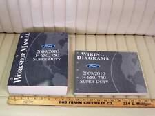 2009 / 2010 Ford F650 F750 Super Duty Shop Service Manual Set 2pc