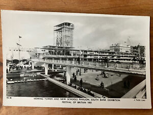 (60)VIEWING TOWER AND SCHOOL PAVILION FESTIVAL OF BRITAIN 1951 RPPC