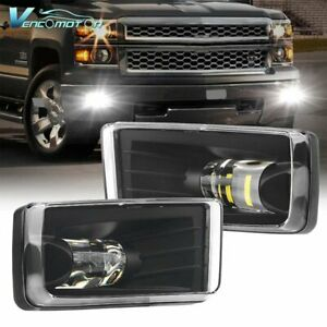 LED Fog Lights Fit For Chevy Silverado 1500 2500 3500/Avalanche/Suburban 07-14