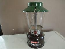 Beautiful Vtg COLEMAN MODEL 625 BROWN LANTERN DATED 1-87 W GLASS & GREEN TOP
