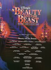 MIS-PRINT BEAUTY AND THE BEAST UK TOUR 2001 PROGRAMME